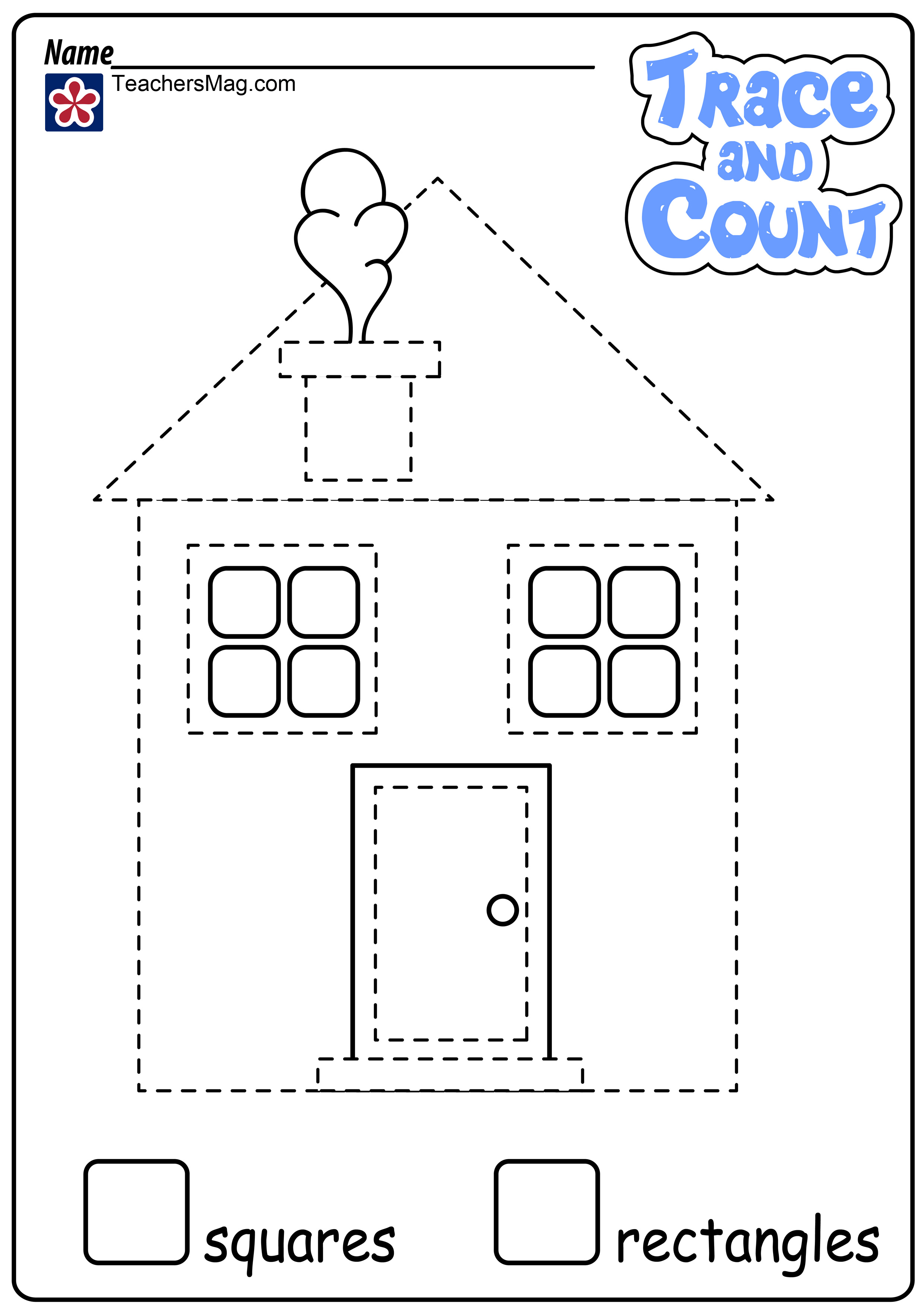 Recognizing Rectangles Worksheet