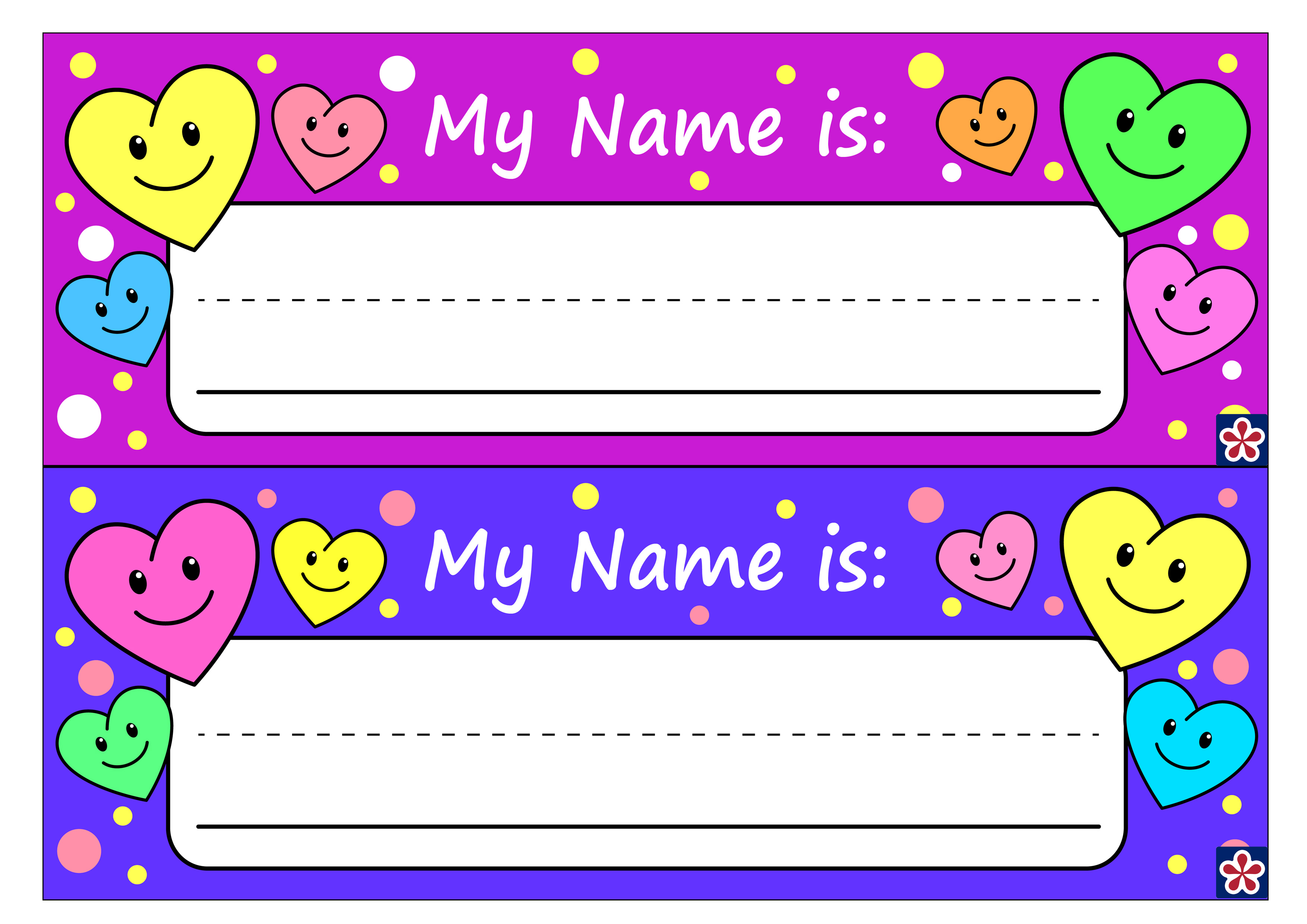 Free Printable Name Tags For Preschoolers