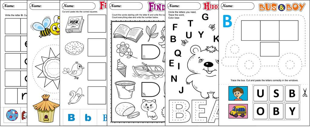 Worksheets About The Letter B Teachersmag Com