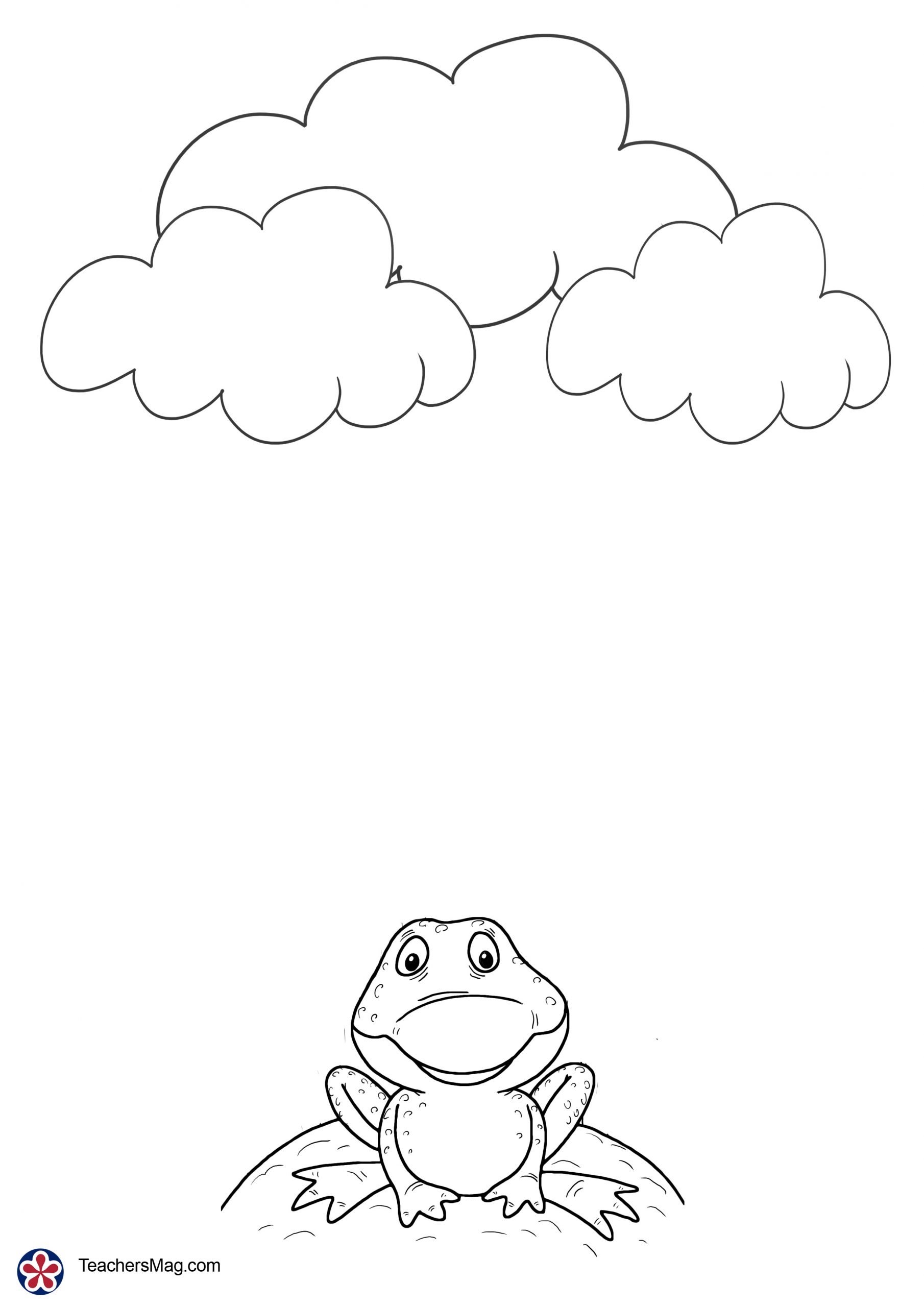 Weather Themed Math Activity With Rain Clouds