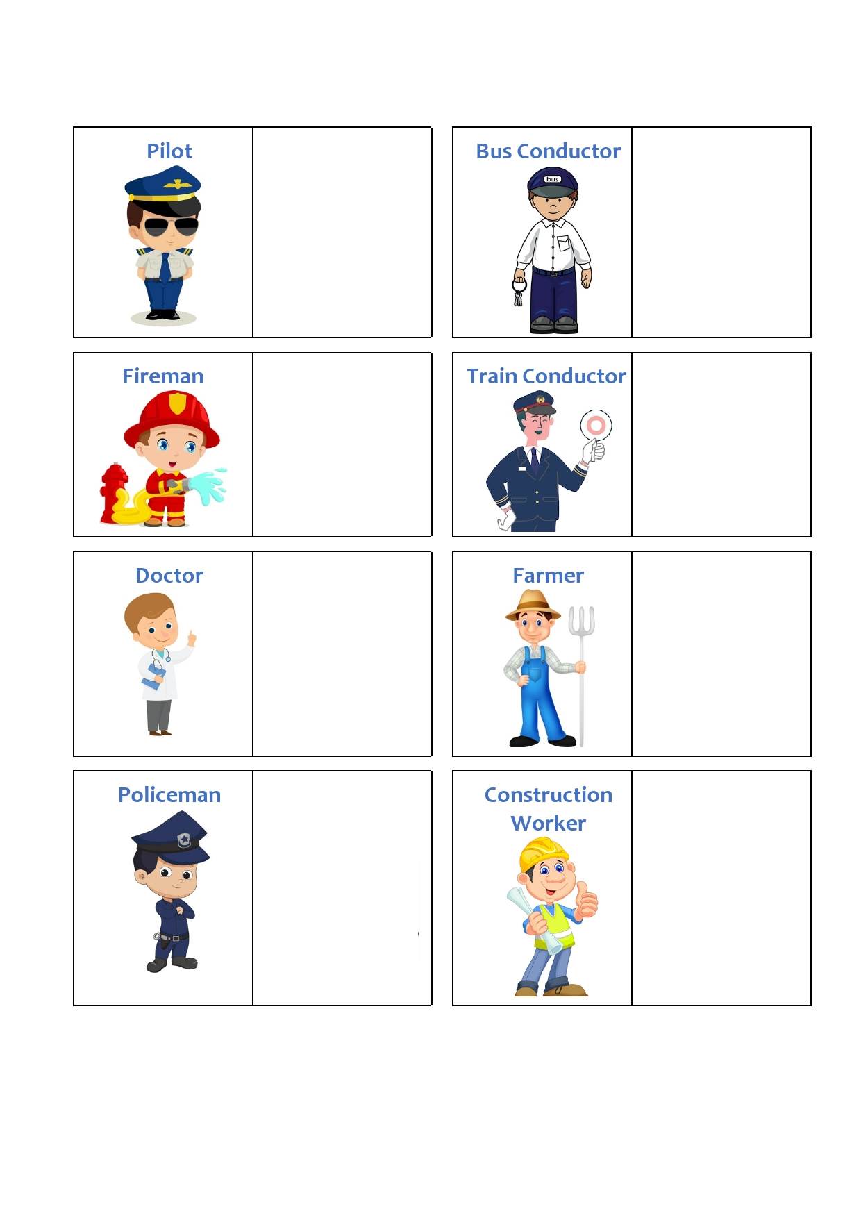 Occupations Vehicles Matching Activity