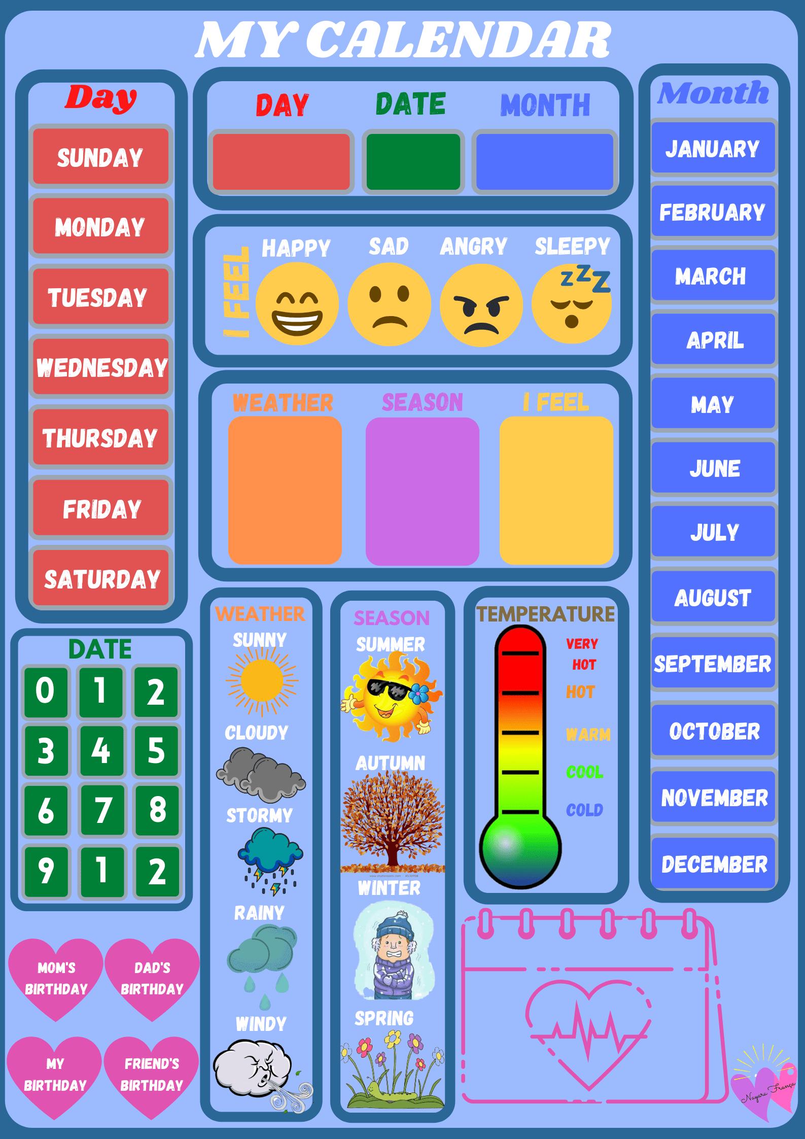 Preschool Calendar Printables Teachersmag
