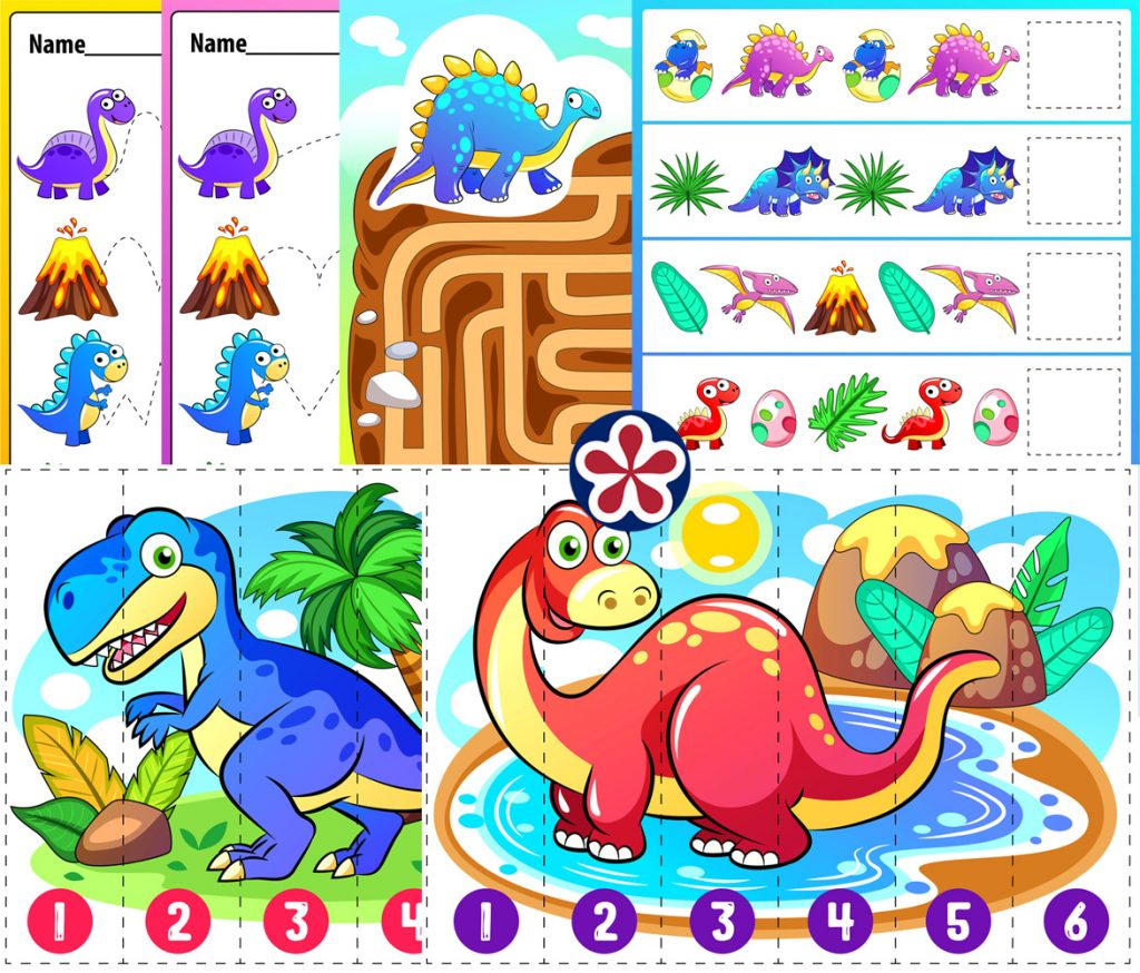 Dinosaur Activity Worksheets For Young Children