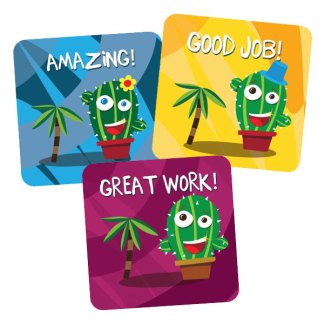 Cactus themed stickers from Teacher Stickers