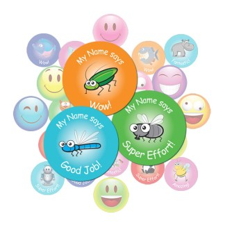 Cute Insect Round Sticker Gift Pack