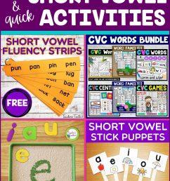 Fun and Quick Short Vowel Activities - Teacher's Toolkit Blog [ 2560 x 1707 Pixel ]