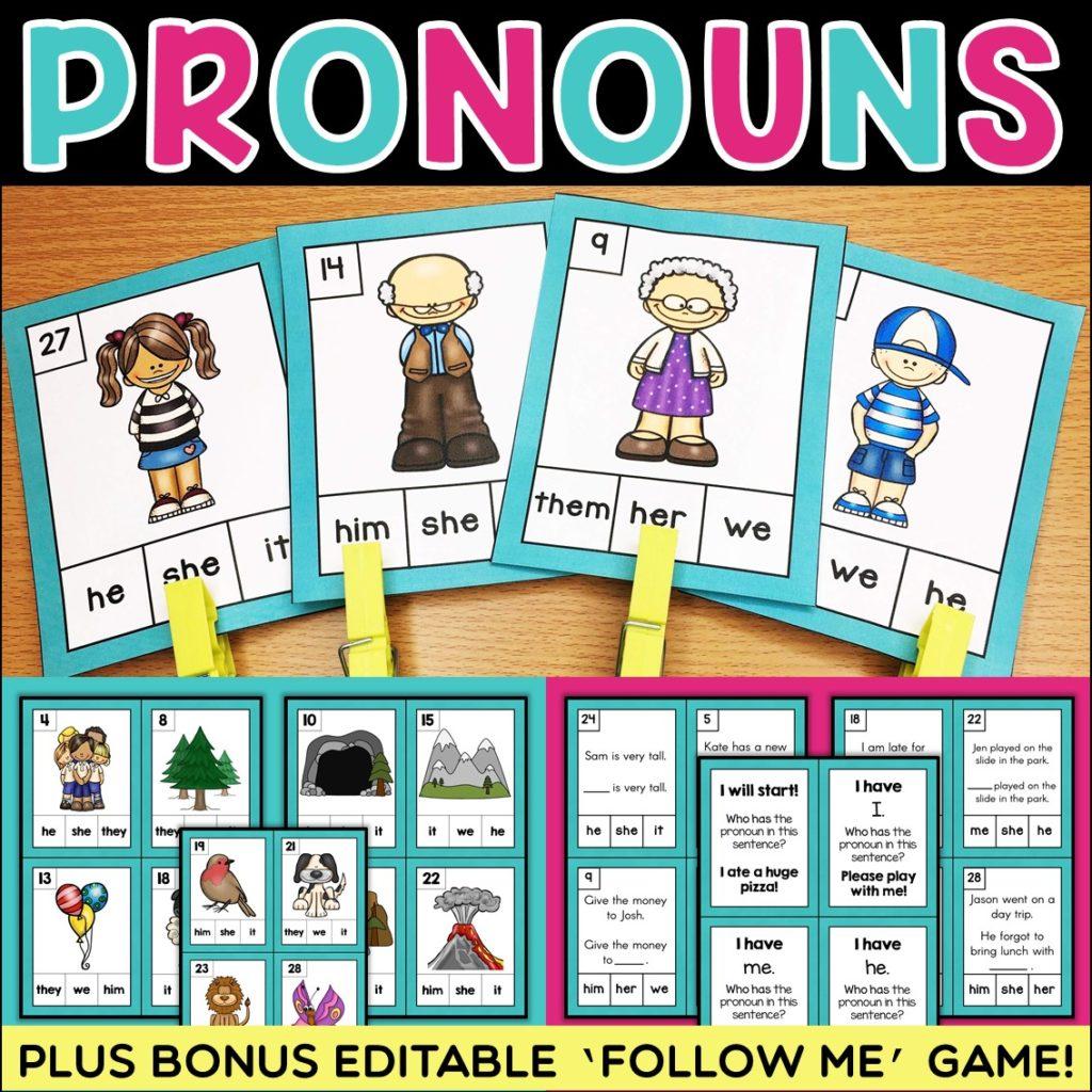 Teaching Parts Of Speech Pronouns