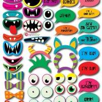 Monsters Eyes Printables