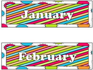 Back to School Classroom Calendar Set