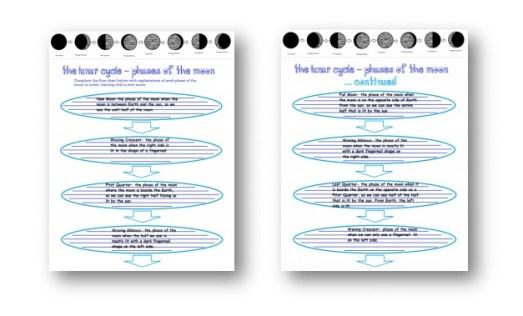 moon graphic organizer