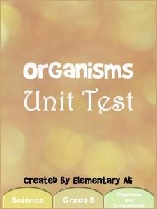 organisms unit testc