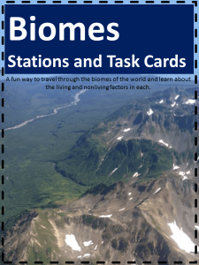 Biomes Stations and Task Cards cover