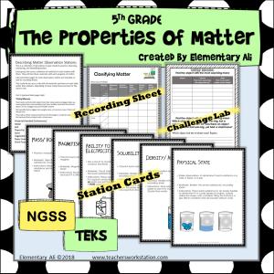 Properties of Matter lab 5th