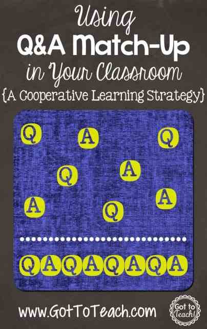 Q and A Match-Up: A Cooperative Learning Strategy