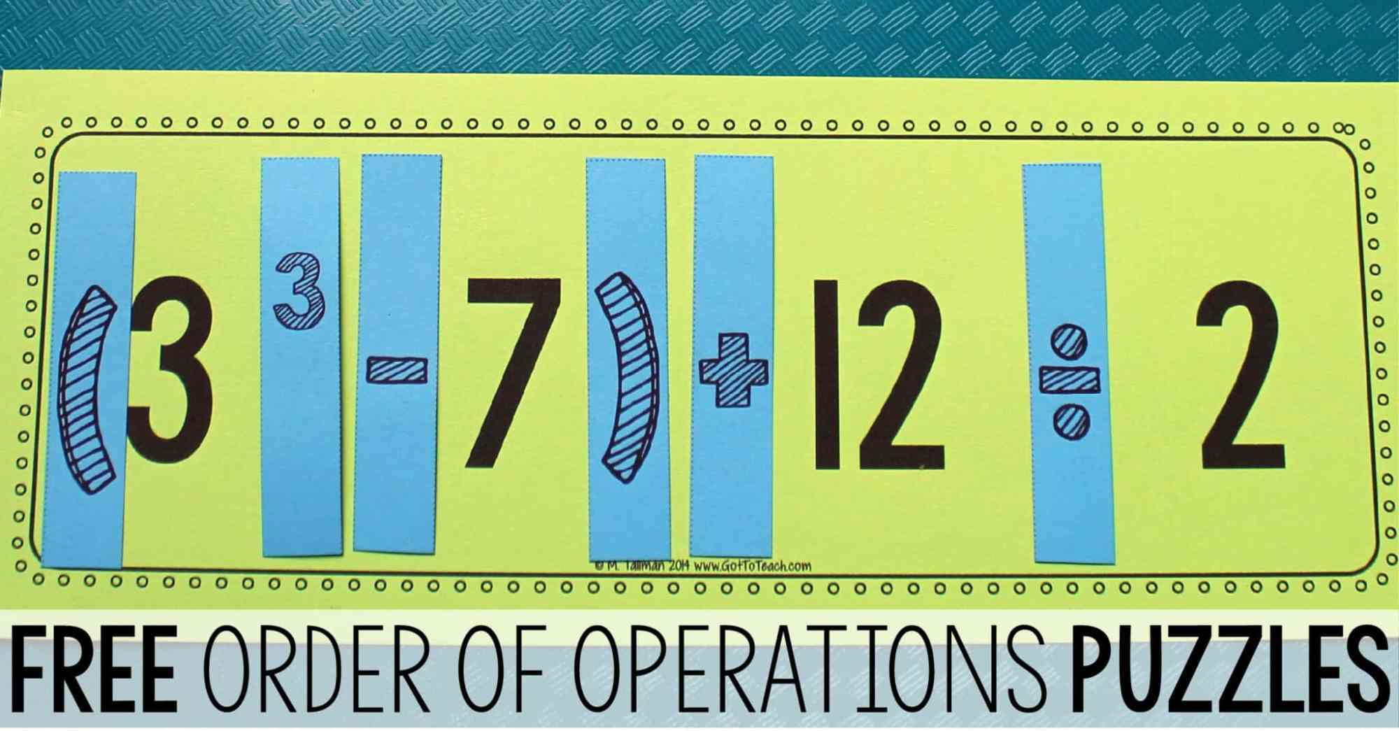 hight resolution of Teaching Order of Operations • Teaching Order of Operations