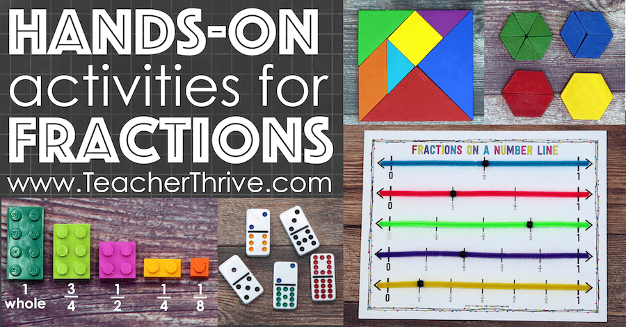 hands on fractions, teaching fractions, equivalent fractions