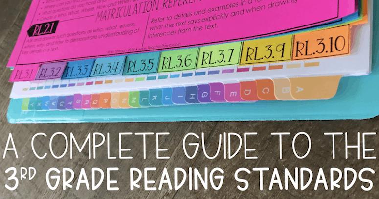 third grade reading standards