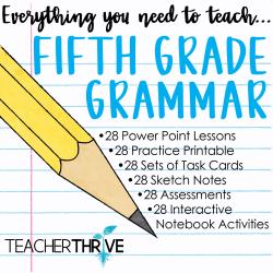 Fifth Grade Grammar