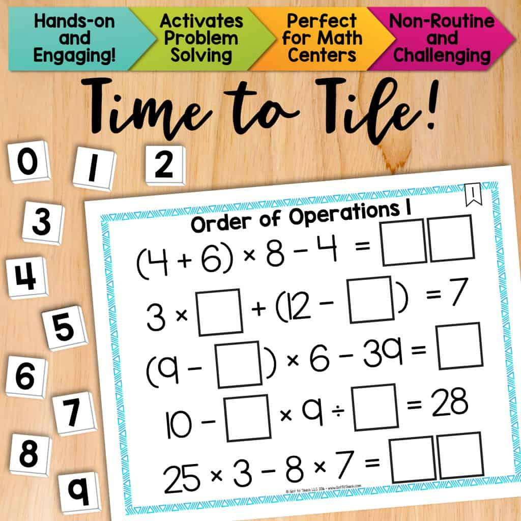 Math Tiles Order Of Operations 1 Without Exponents