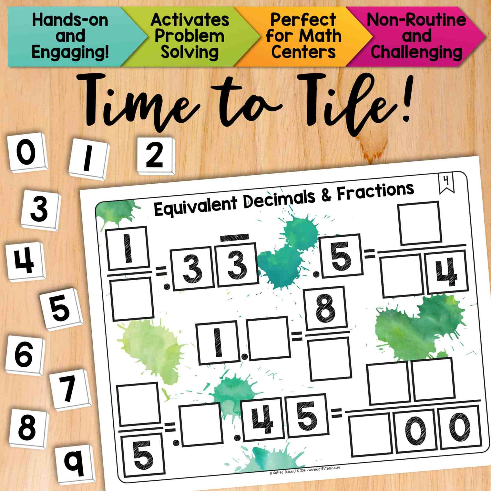 hight resolution of Equivalent Fraction Tiles Worksheet   Printable Worksheets and Activities  for Teachers