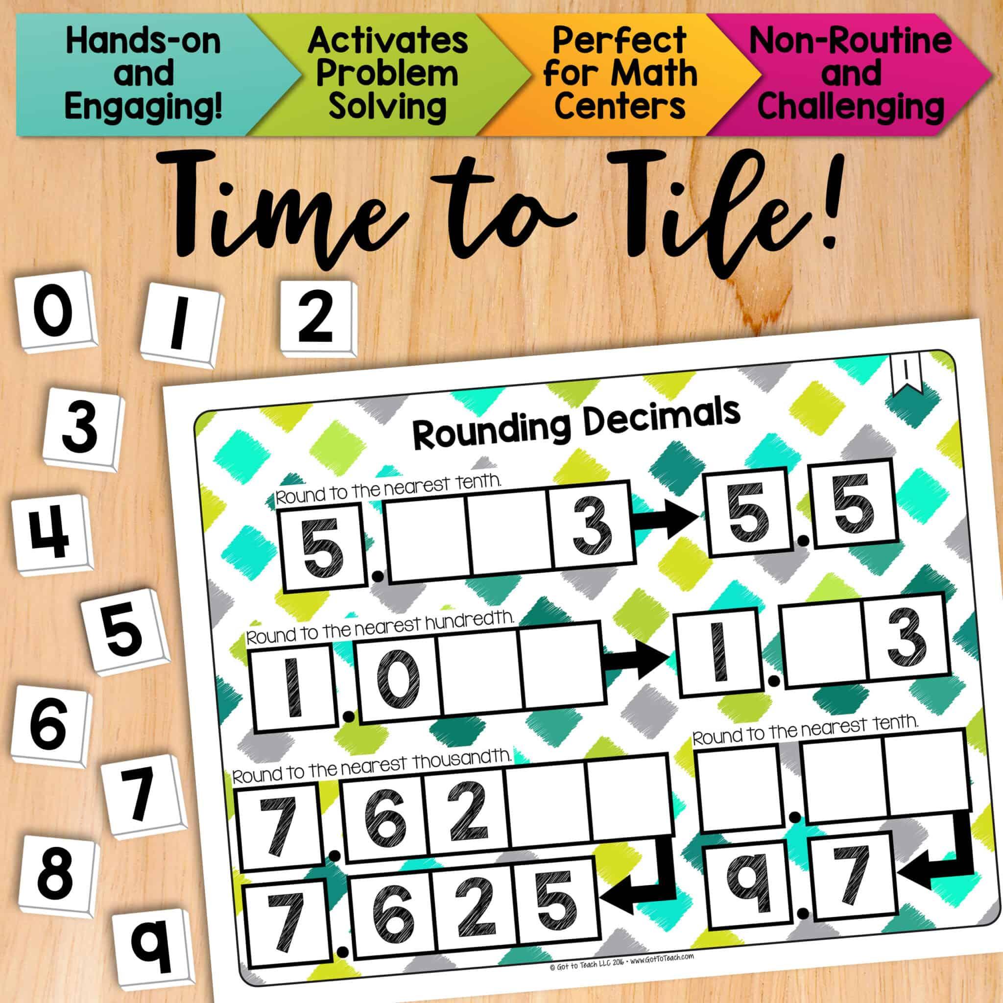 Math Tiles Rounding Decimals Teacher Thrive