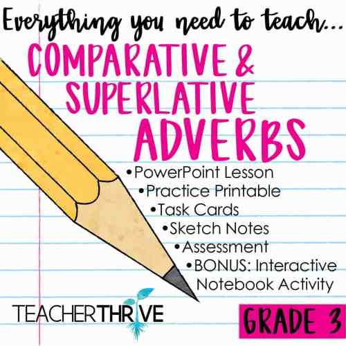 small resolution of Third Grade Grammar: Comparative and Superlative Adverbs • Teacher Thrive