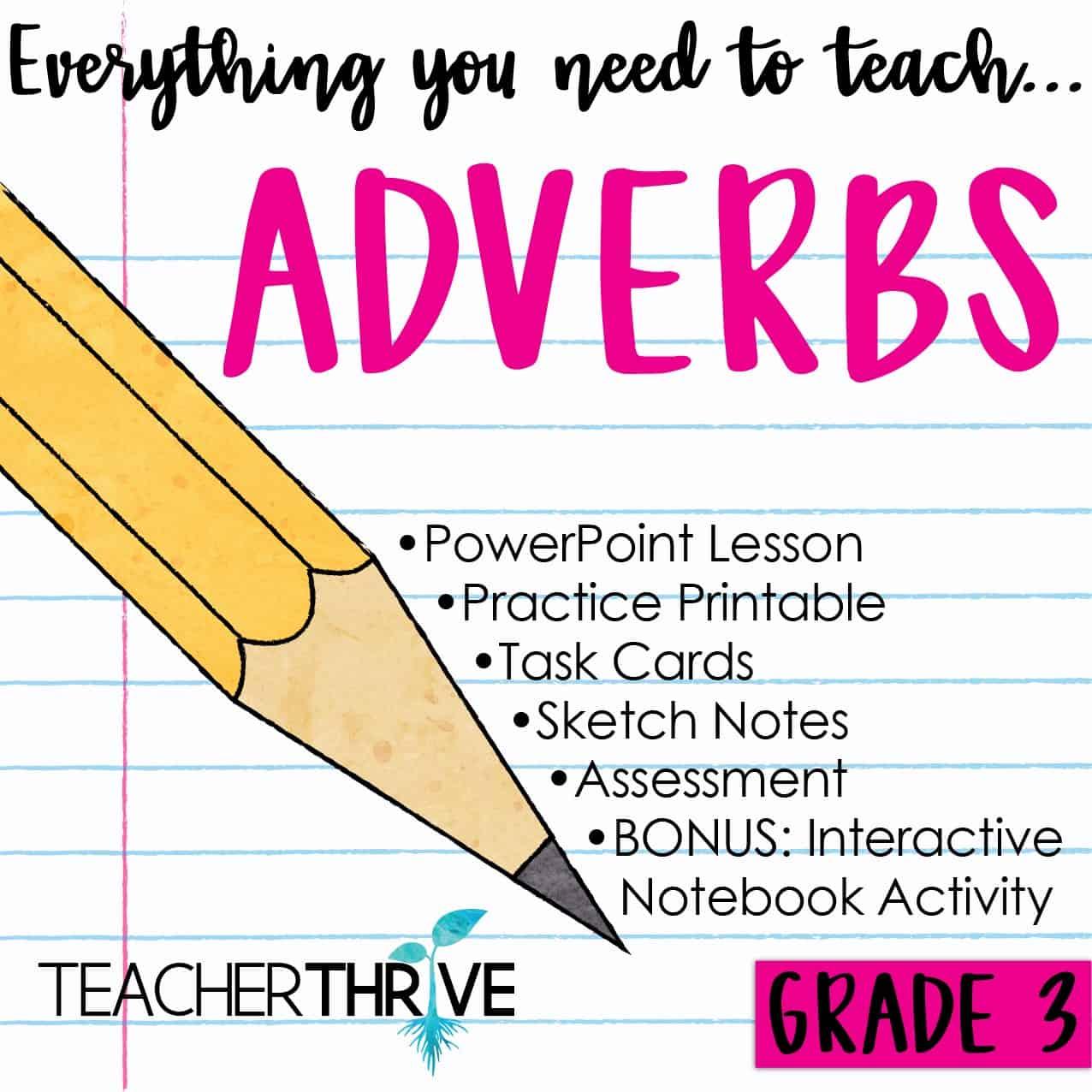 Third Grade Grammar Adverbs Teacher Thrive