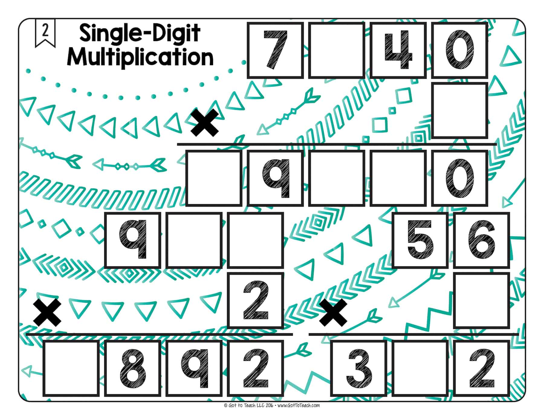 Math Tiles Single Digit Multiplication Teacher Thrive