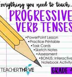 Teaching Progressive Verb Tenses • Teacher Thrive [ 1276 x 1276 Pixel ]