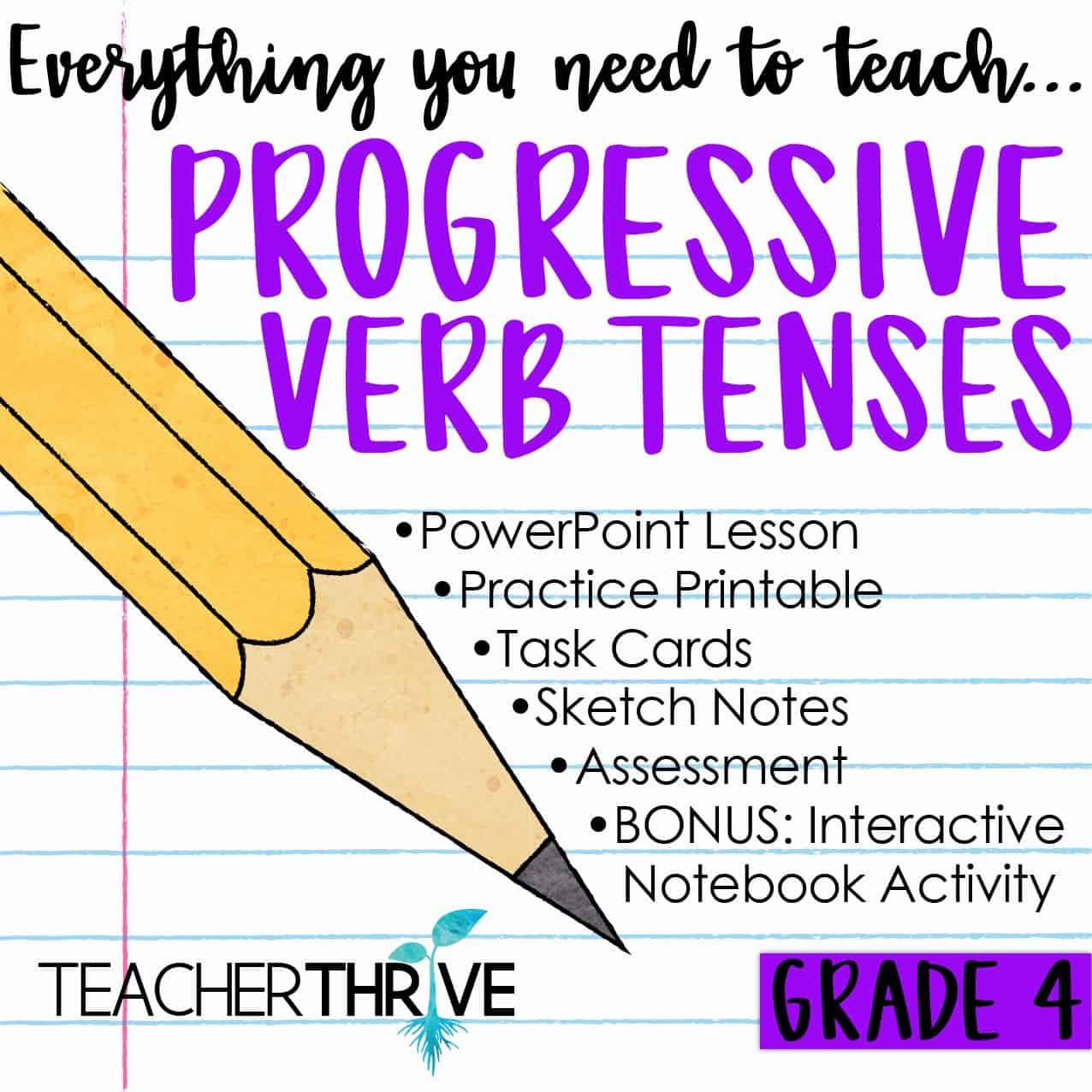 hight resolution of Teaching Progressive Verb Tenses • Teacher Thrive