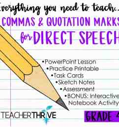 Fourth Grade Grammar: Commas \u0026 Quotations for Direct Speech • Teacher Thrive [ 1276 x 1276 Pixel ]