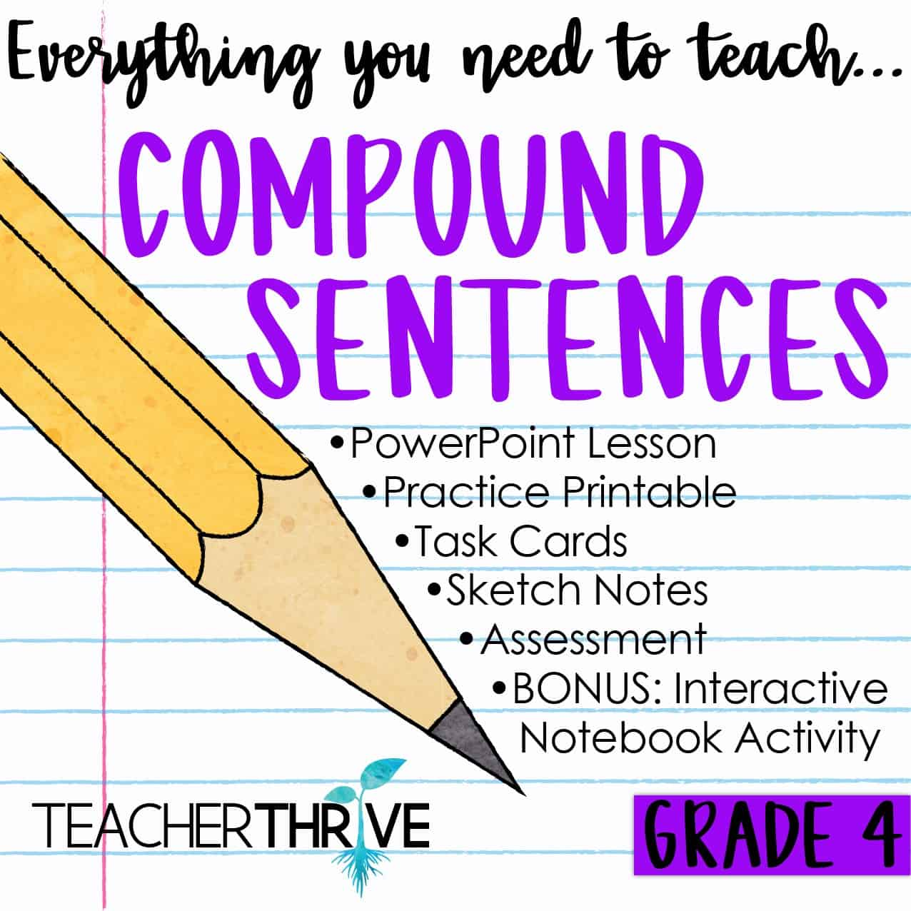 hight resolution of Fourth Grade Grammar: Compound Sentences and Coordinating Conjunctions •  Teacher Thrive