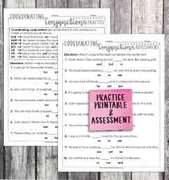 Third Grade Grammar: Coordinating Conjunctions • Teacher Thrive [ 1275 x 1275 Pixel ]