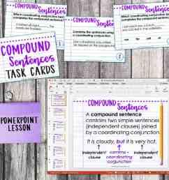 Fourth Grade Grammar: Compound Sentences and Coordinating Conjunctions •  Teacher Thrive [ 1275 x 1276 Pixel ]