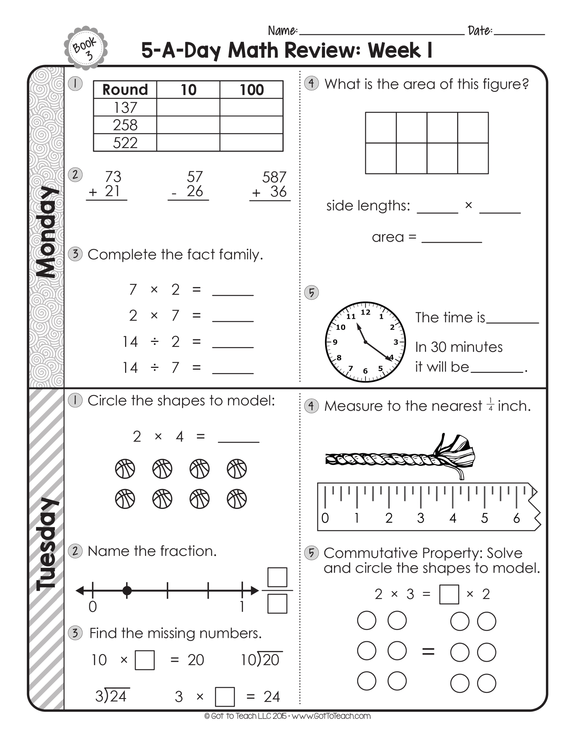 hight resolution of 3rd Grade Daily Math Spiral Review • Teacher Thrive