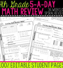 4th Grade Daily Math Spiral Review • Teacher Thrive [ 1276 x 1276 Pixel ]