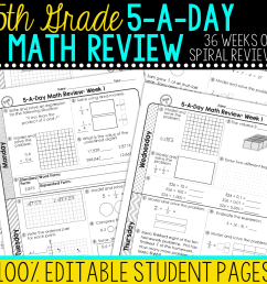 5th Grade Daily Math Spiral Review • Teacher Thrive [ 1276 x 1276 Pixel ]