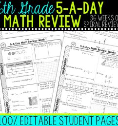 6th Grade Daily Math Spiral Review • Teacher Thrive [ 1276 x 1276 Pixel ]