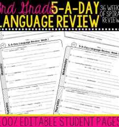 3rd Grade Daily Language Spiral Review • Teacher Thrive [ 1000 x 1000 Pixel ]