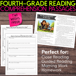 fourth grade reading comprehension