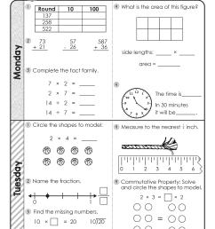 FREE 3rd Grade Daily Math Spiral Review • Teacher Thrive [ 3301 x 2551 Pixel ]