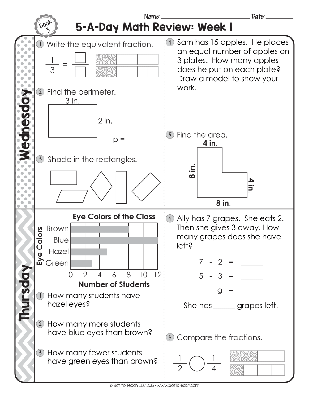 medium resolution of FREE 3rd Grade Daily Math Spiral Review • Teacher Thrive