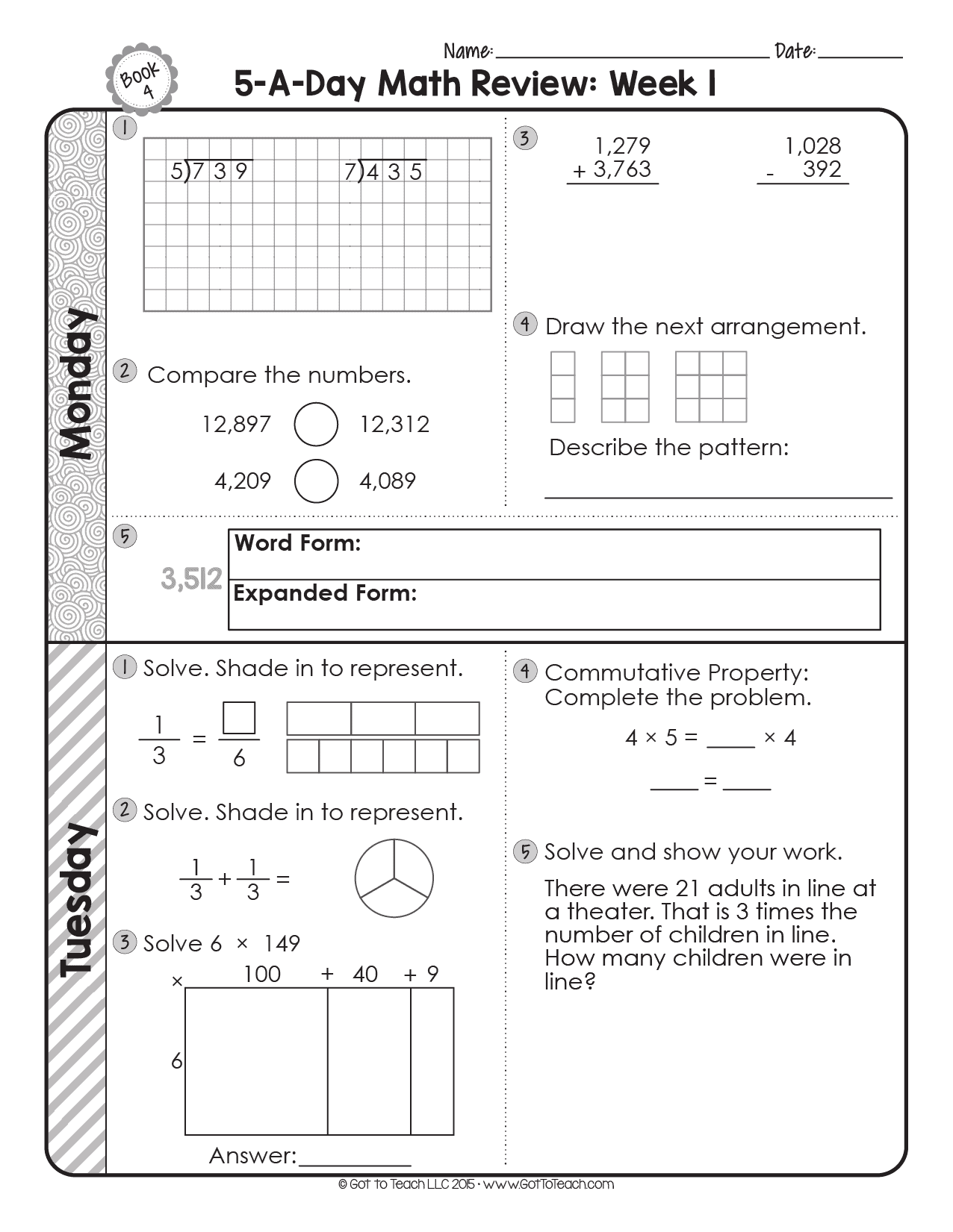 hight resolution of FREE 4th Grade Daily Math Spiral Review • Teacher Thrive