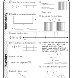 FREE 4th Grade Daily Math Spiral Review • Teacher Thrive [ 1651 x 1276 Pixel ]