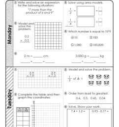 FREE 5th Grade Daily Math Spiral Review • Teacher Thrive [ 1651 x 1276 Pixel ]
