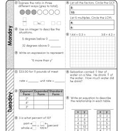 FREE 6th Grade Daily Math Spiral Review • Teacher Thrive [ 1651 x 1276 Pixel ]