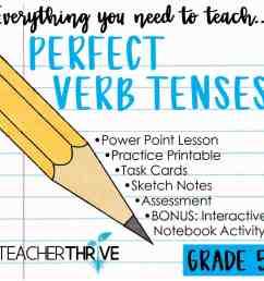 Fifth Grade Grammar: Perfect Verb Tenses • Teacher Thrive [ 1276 x 1276 Pixel ]