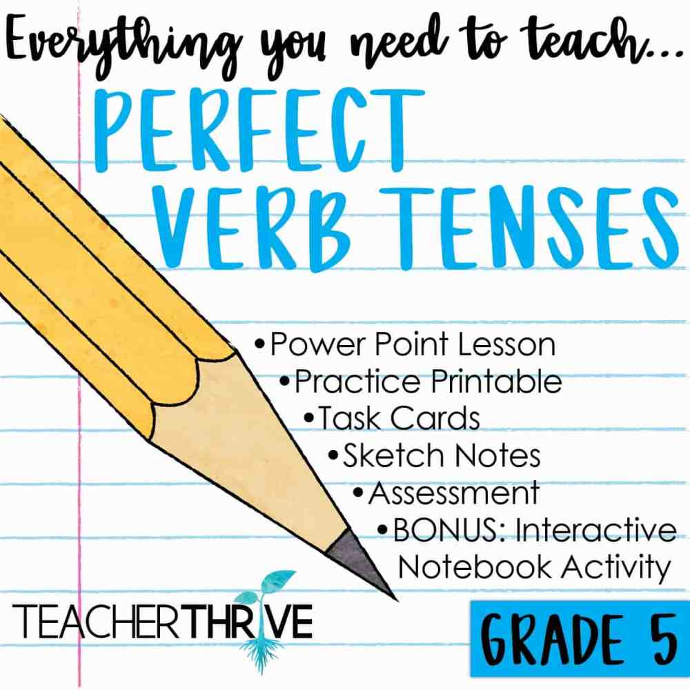 medium resolution of Fifth Grade Grammar: Perfect Verb Tenses • Teacher Thrive