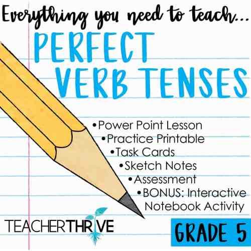small resolution of Fifth Grade Grammar: Perfect Verb Tenses • Teacher Thrive