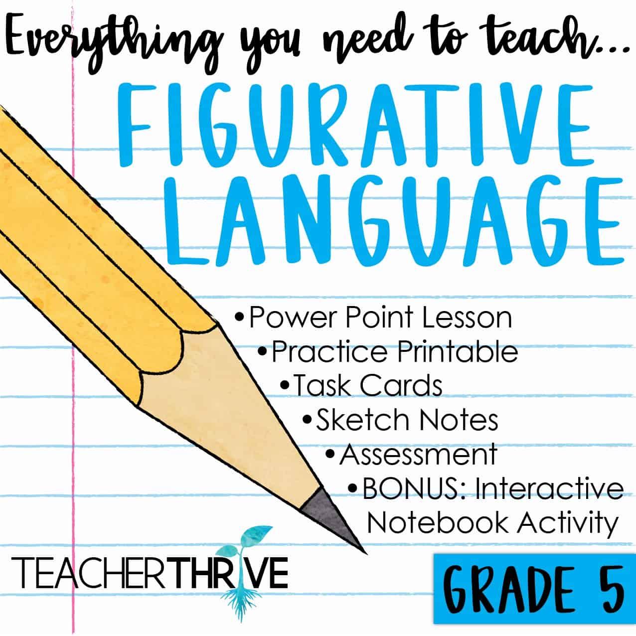 hight resolution of Fifth Grade Grammar: Figurative Language • Teacher Thrive